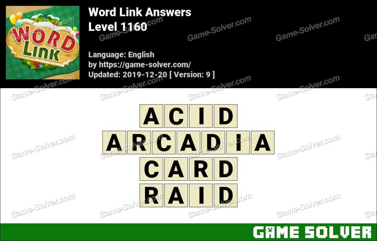 Word Link Level 1160 Answers