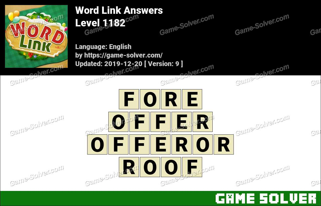 Word Link Level 1182 Answers