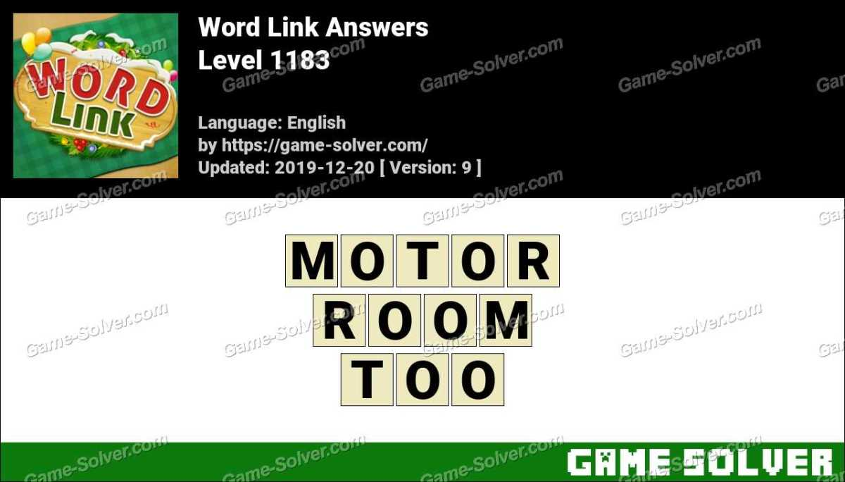 Word Link Level 1183 Answers