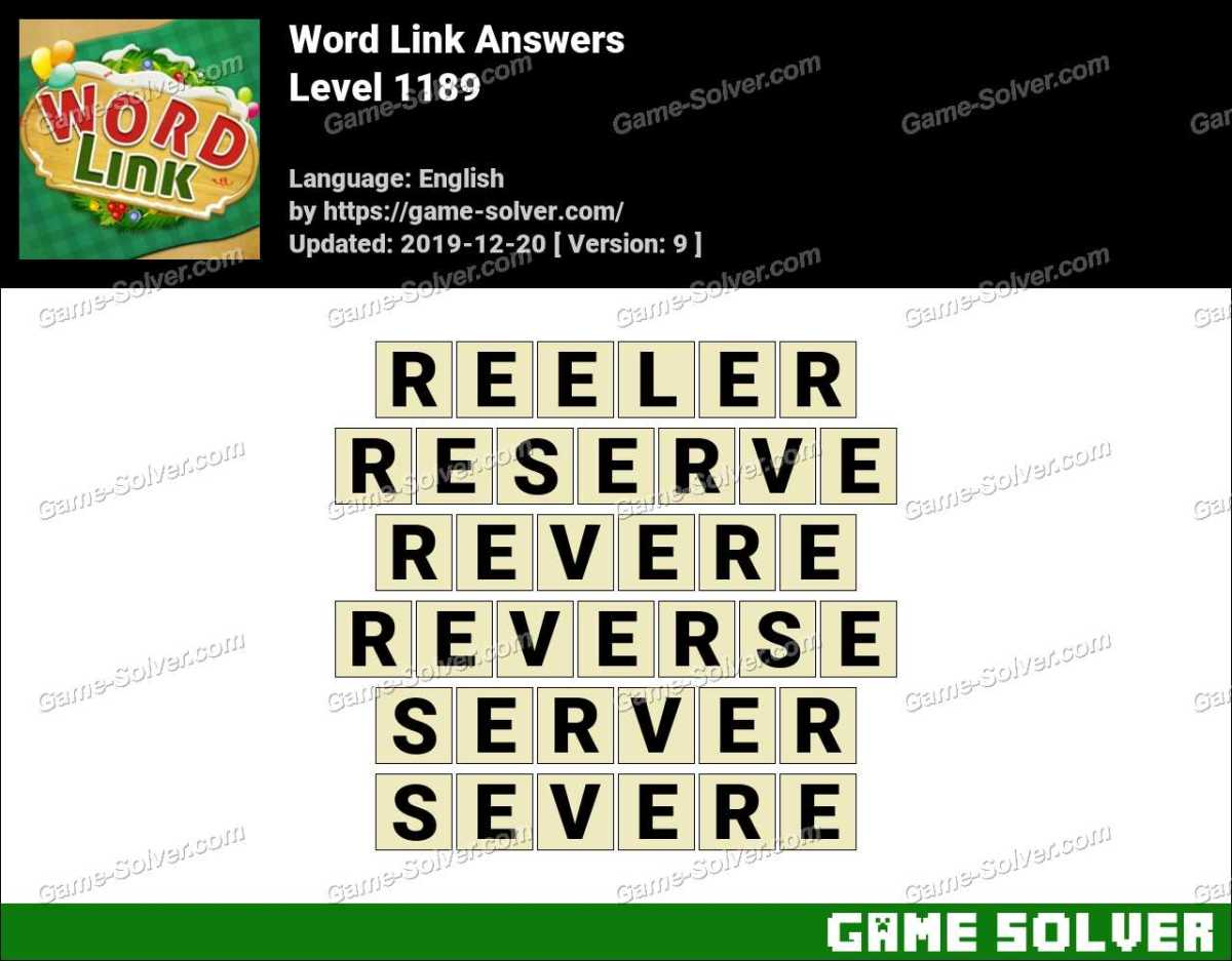 Word Link Level 1189 Answers