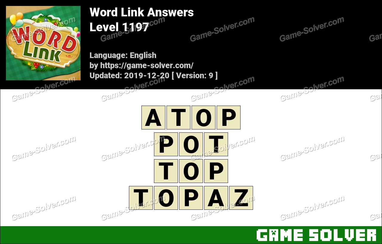Word Link Level 1197 Answers