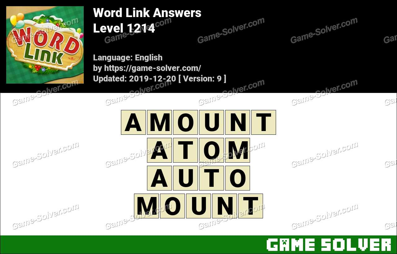 Word Link Level 1214 Answers