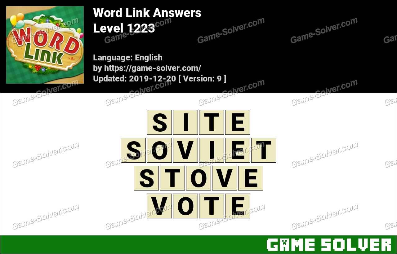 Word Link Level 1223 Answers