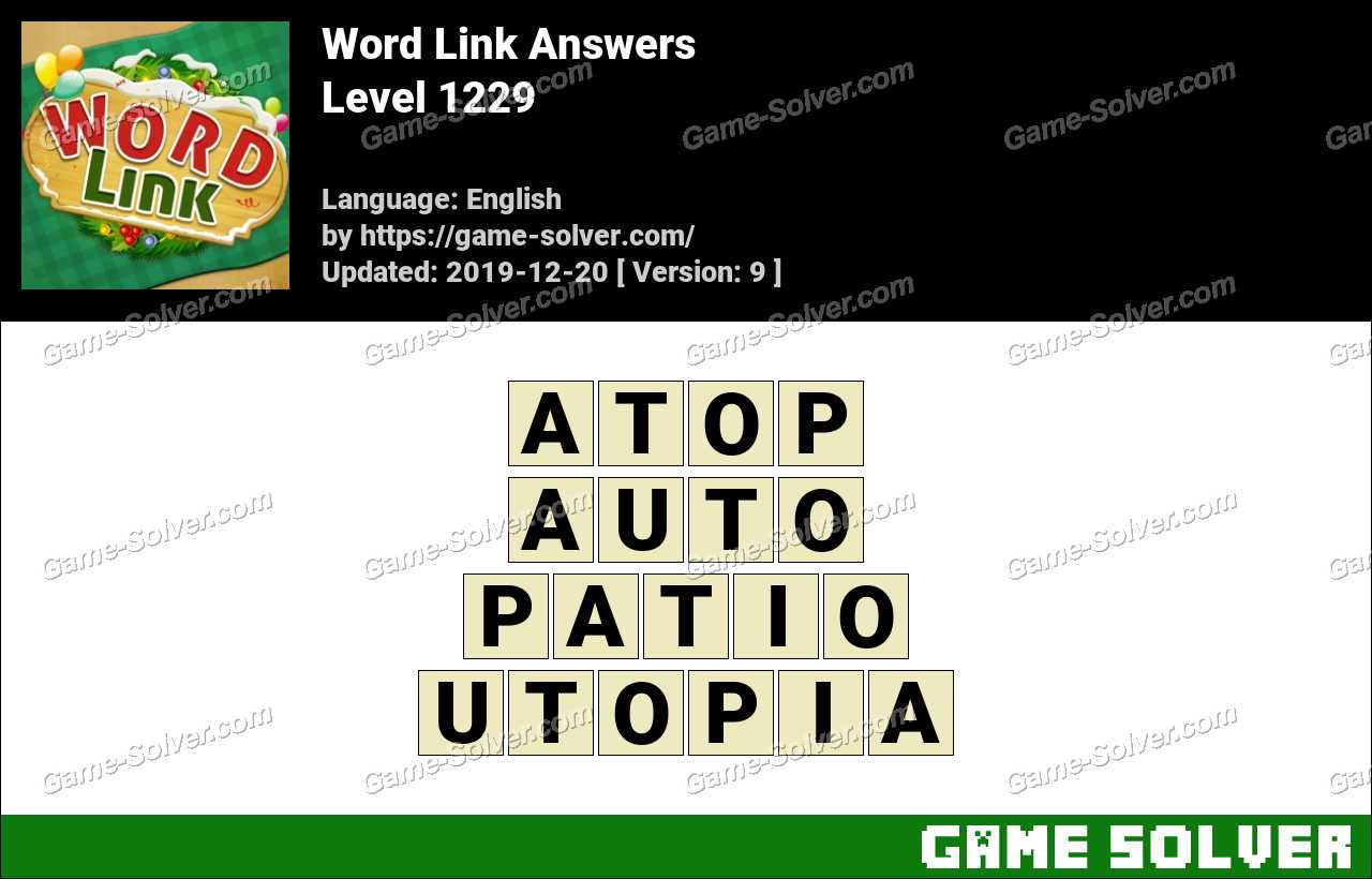 Word Link Level 1229 Answers