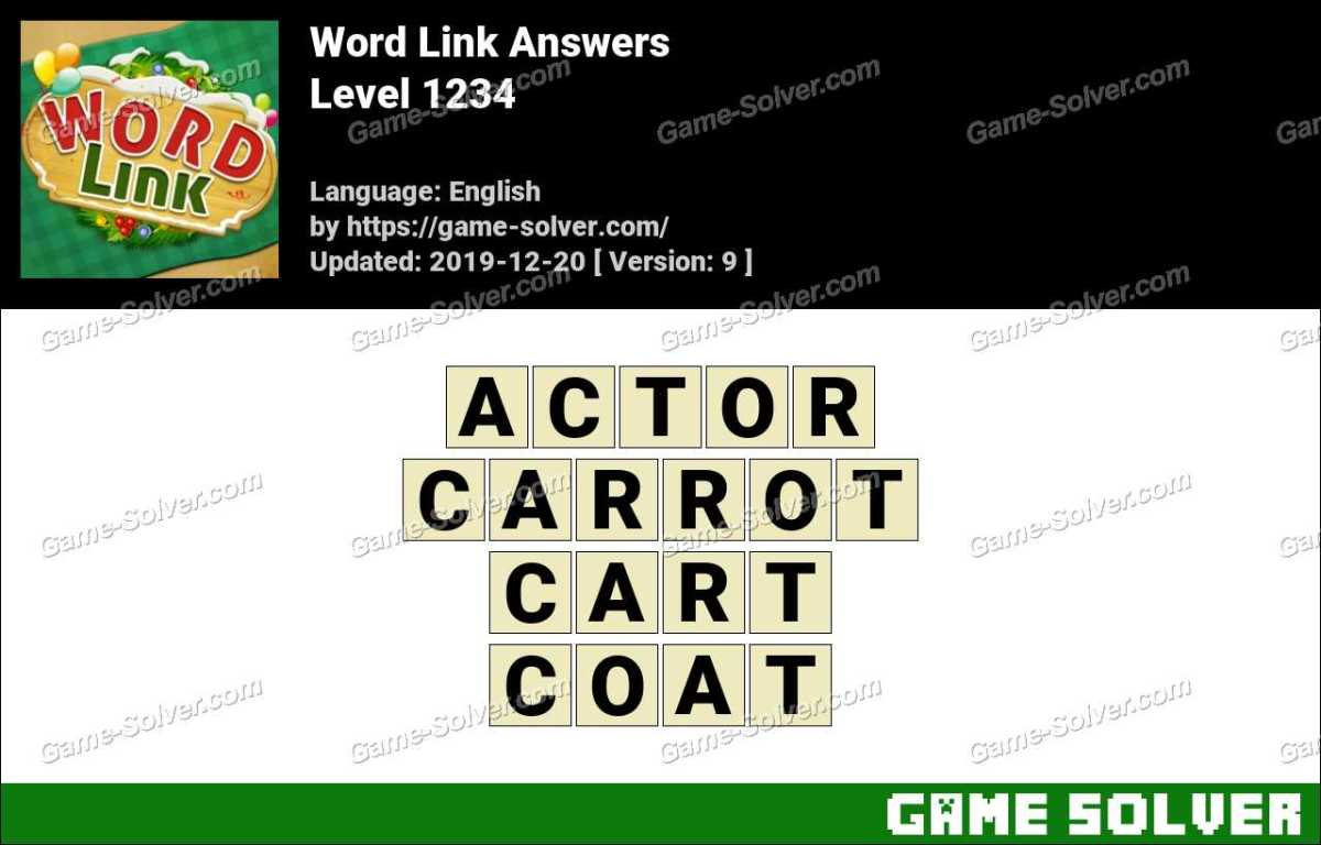 Word Link Level 1234 Answers