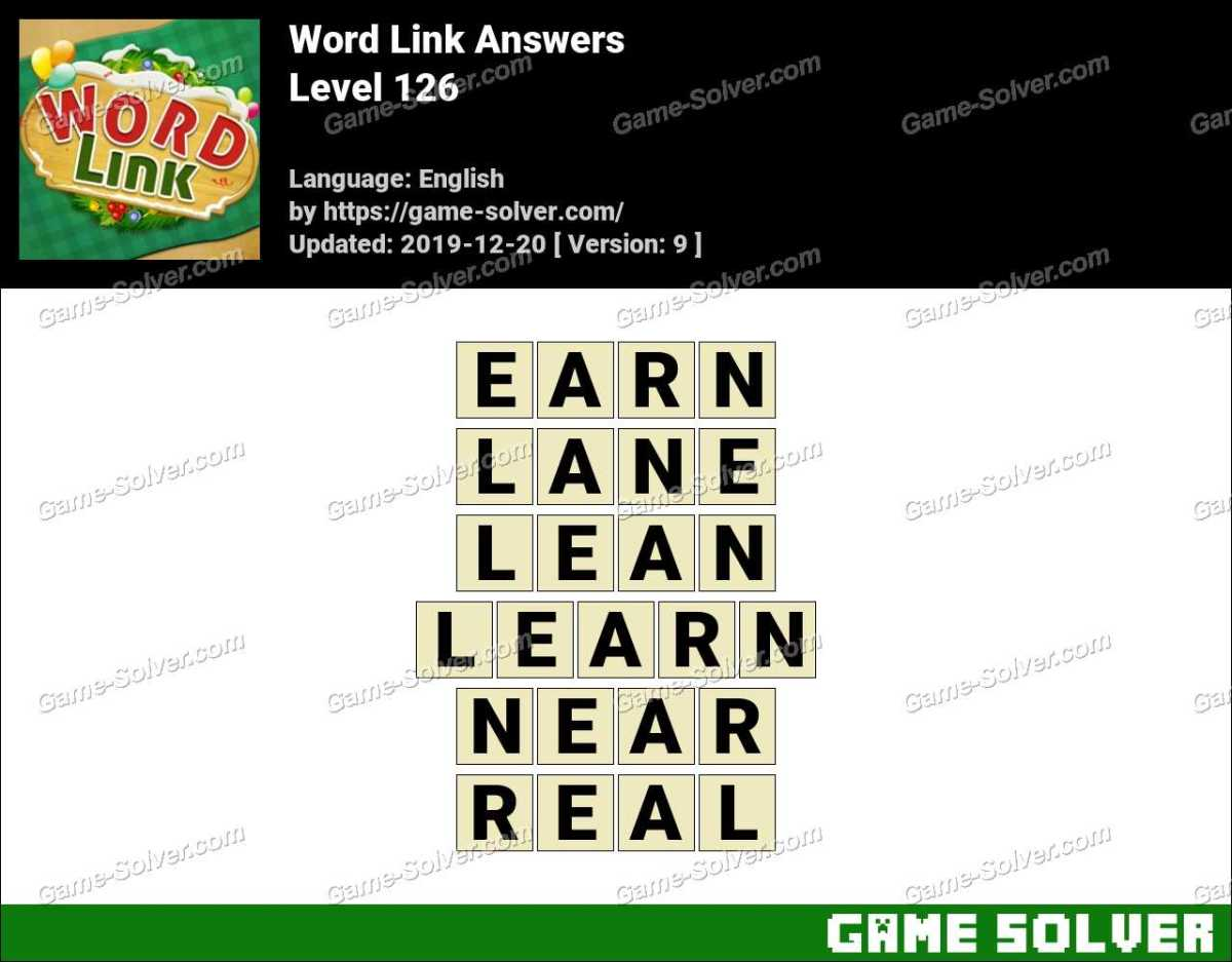 Word Link Level 126 Answers