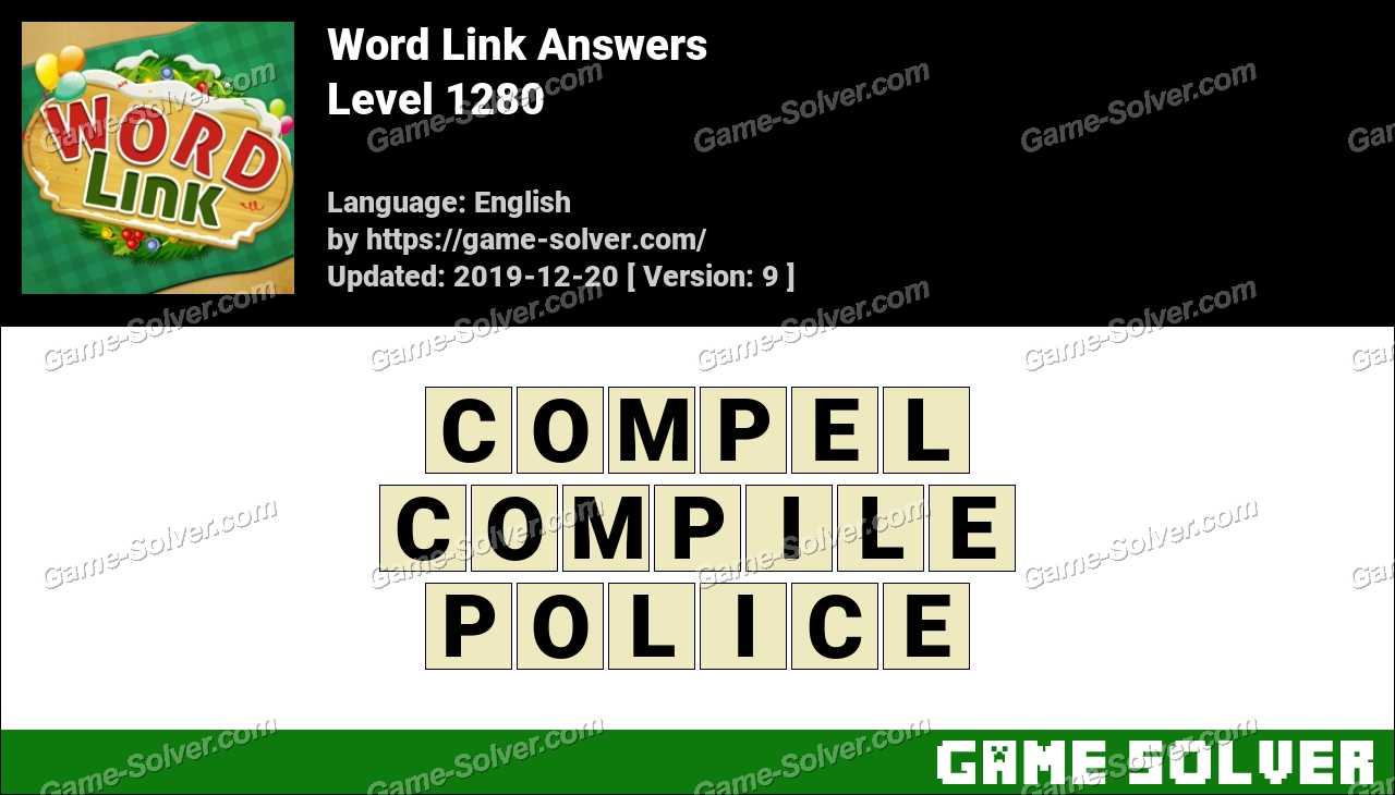 Word Link Level 1280 Answers