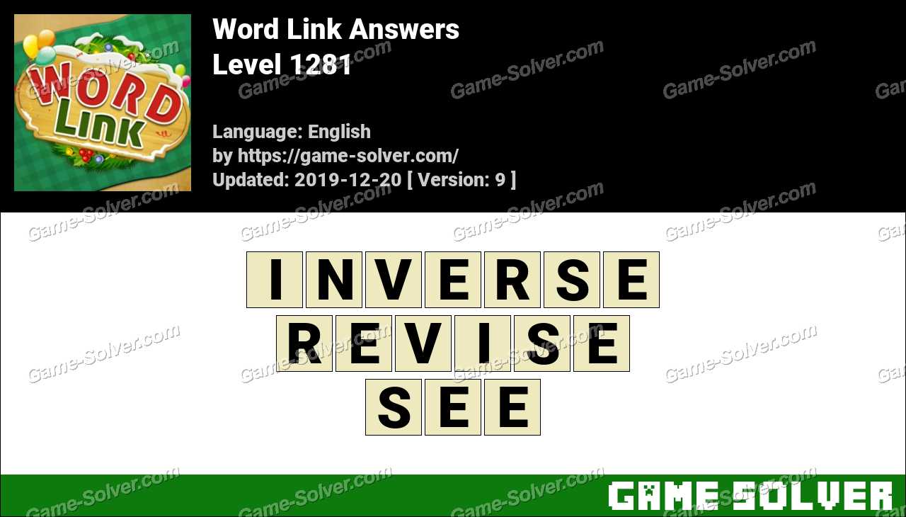 Word Link Level 1281 Answers