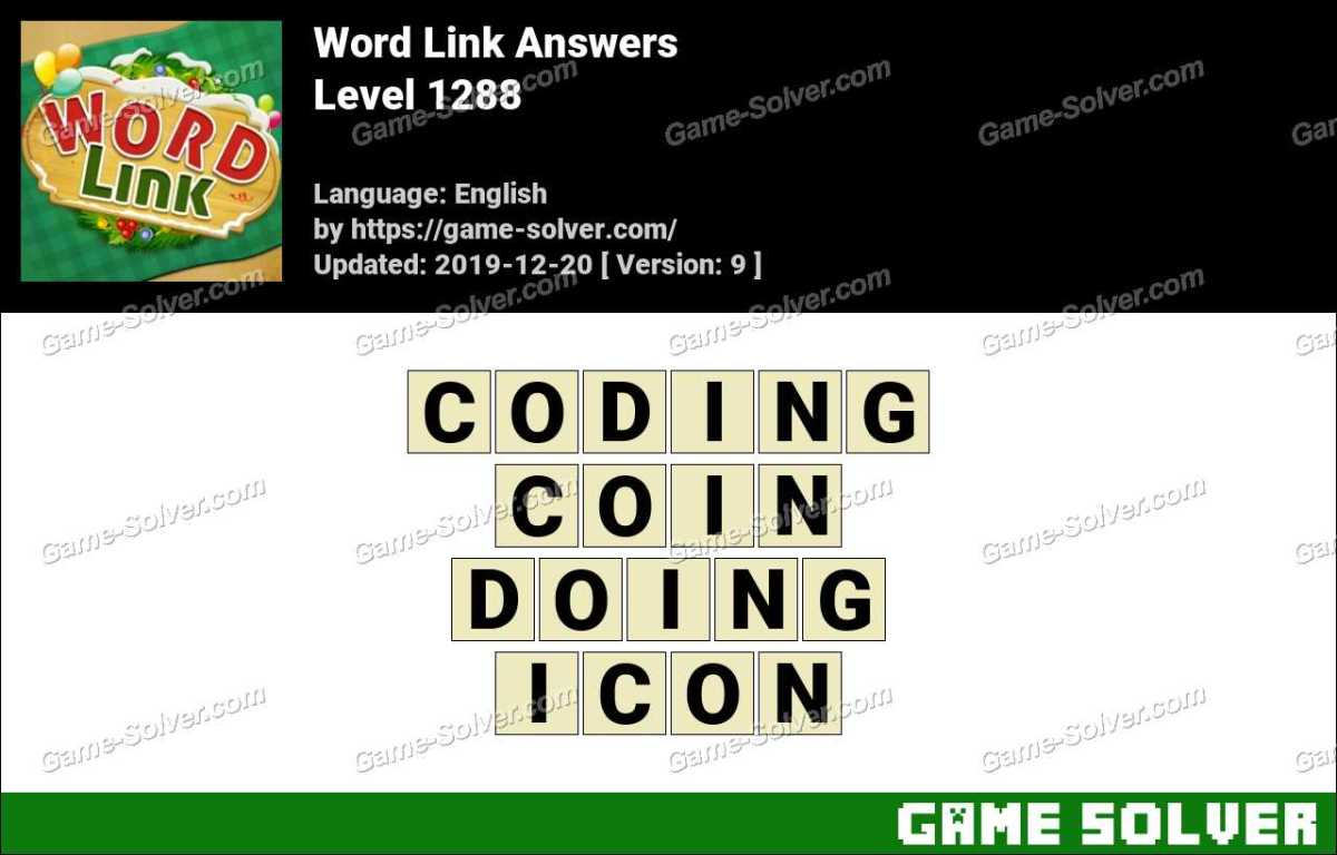 Word Link Level 1288 Answers