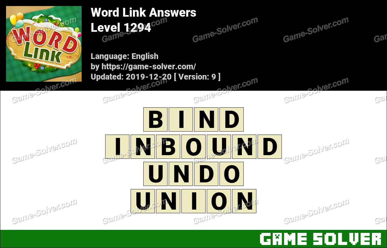 Word Link Level 1294 Answers