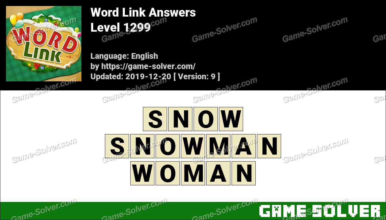 Word Link Level 1299 Answers