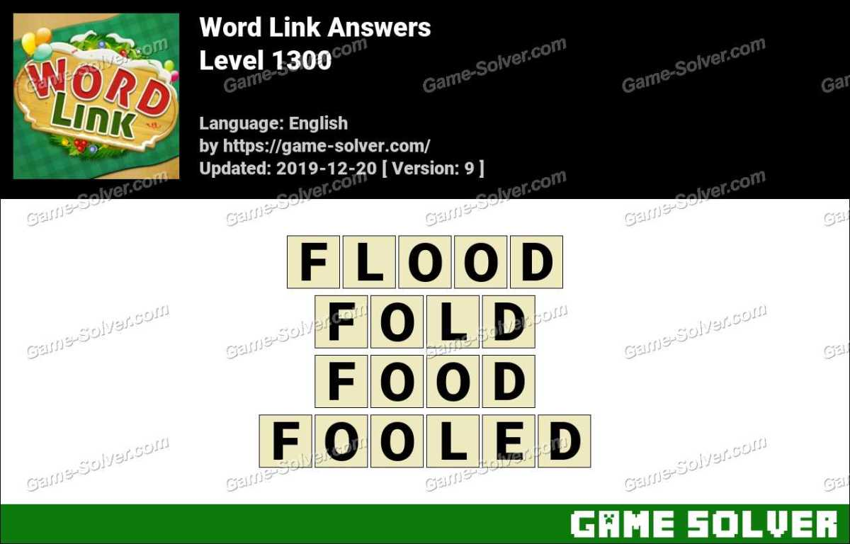 Word Link Level 1300 Answers