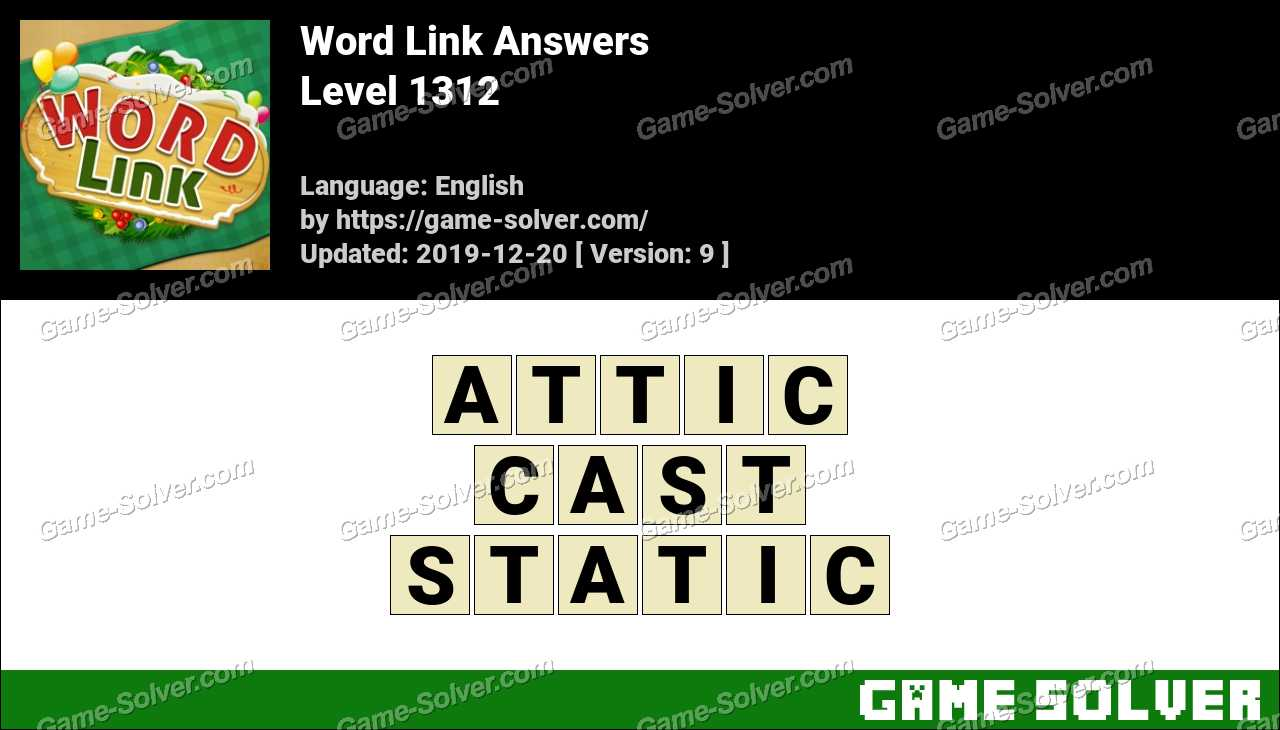 Word Link Level 1312 Answers