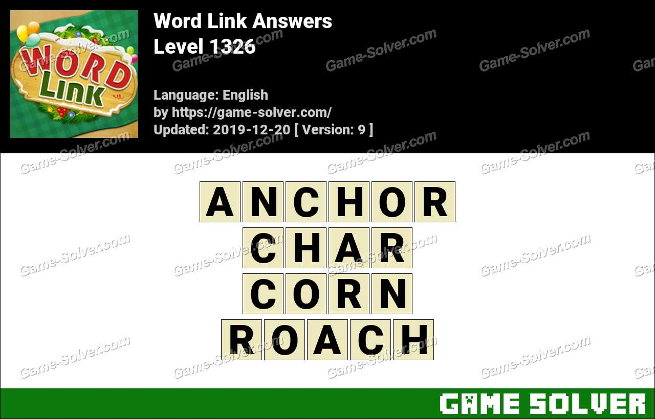 Word Link Level 1326 Answers