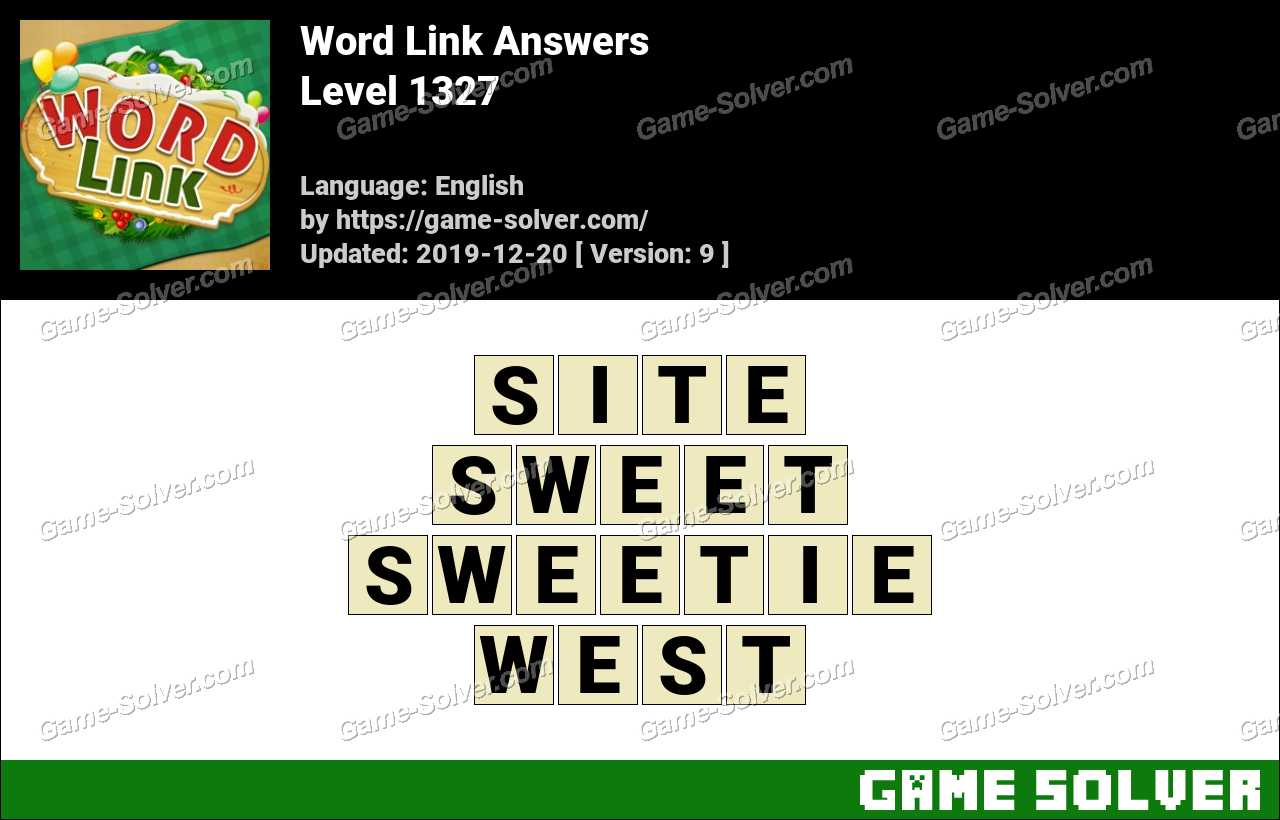 Word Link Level 1327 Answers