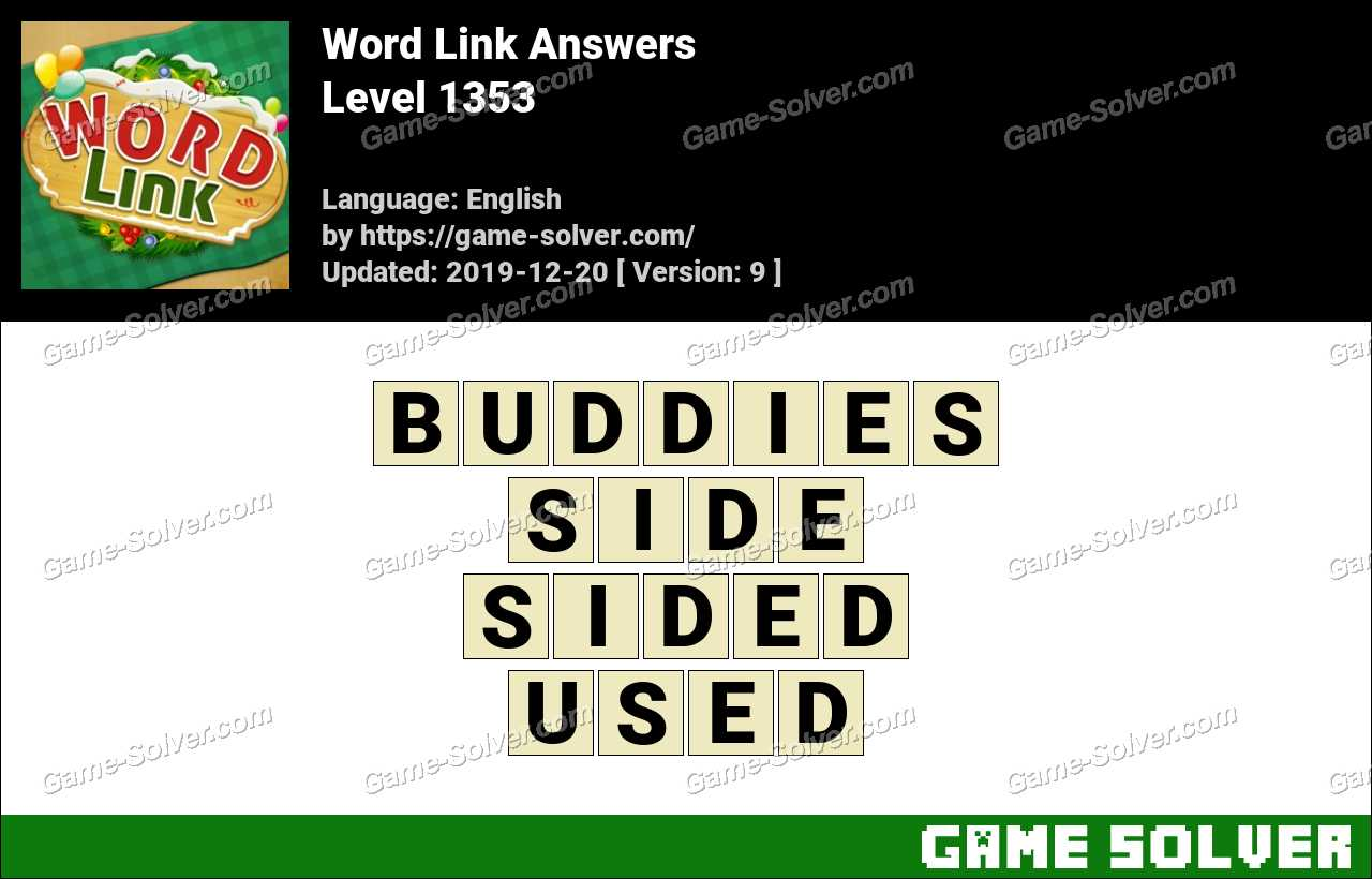 Word Link Level 1353 Answers