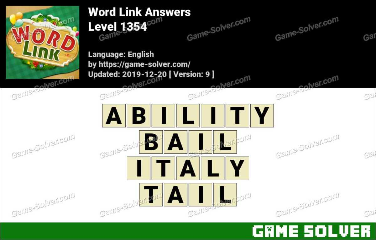 Word Link Level 1354 Answers