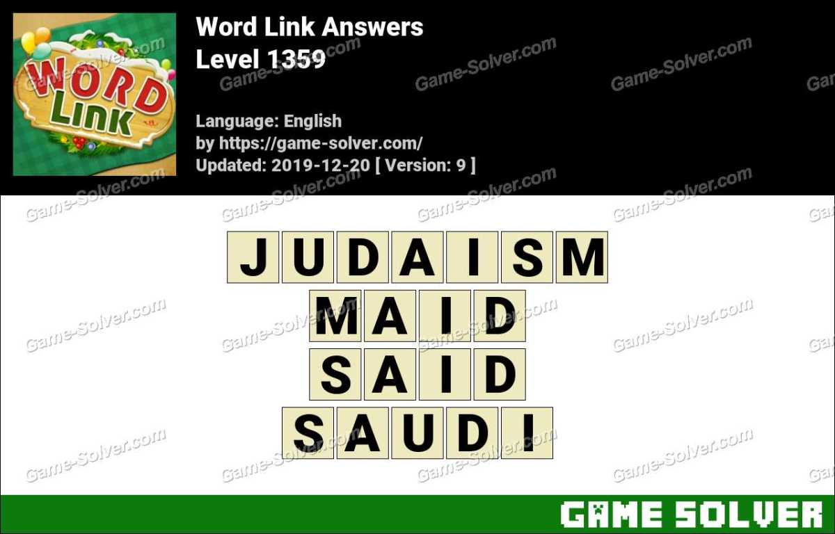 Word Link Level 1359 Answers