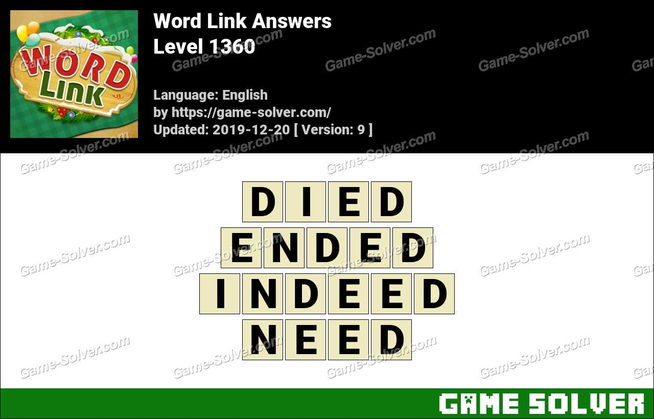 Word Link Level 1360 Answers