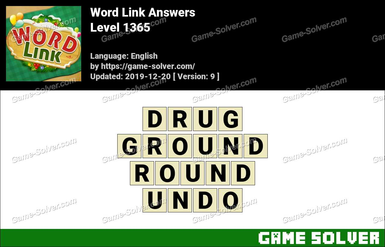 Word Link Level 1365 Answers
