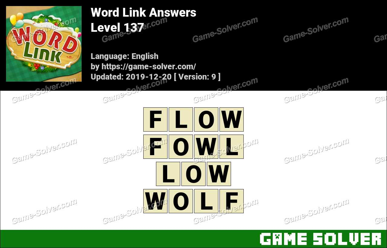 Word Link Level 137 Answers