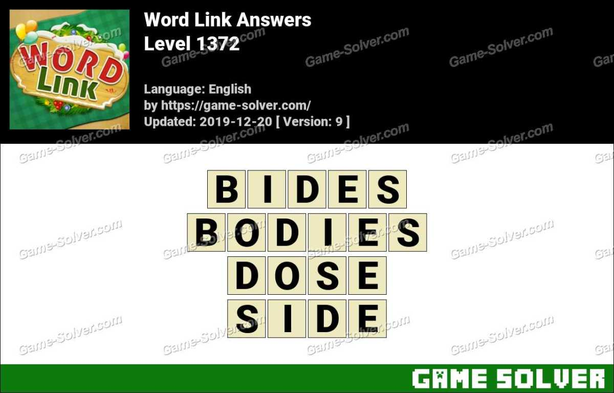 Word Link Level 1372 Answers