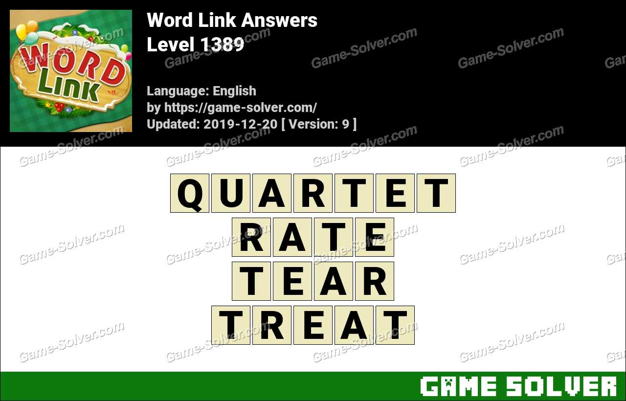 Word Link Level 1389 Answers