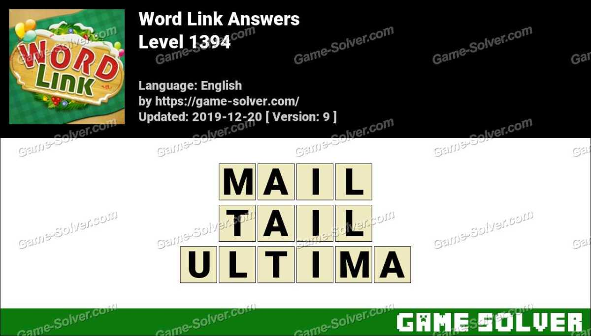 Word Link Level 1394 Answers
