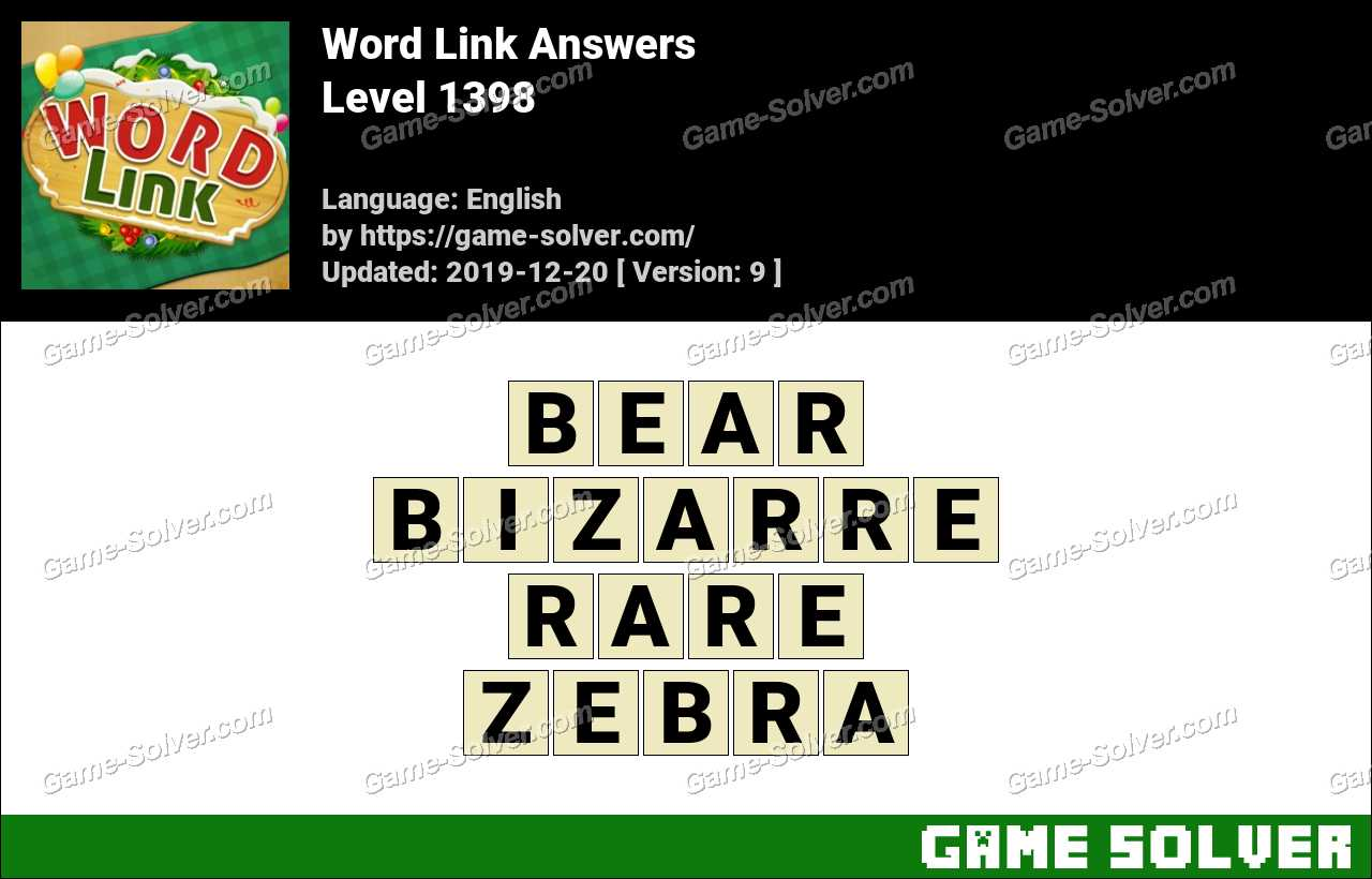 Word Link Level 1398 Answers