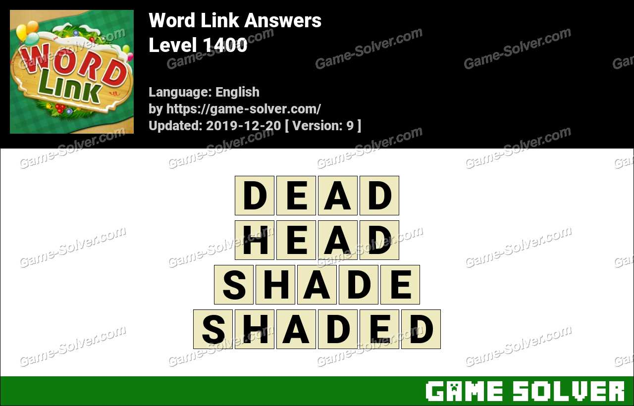 Word Link Level 1400 Answers