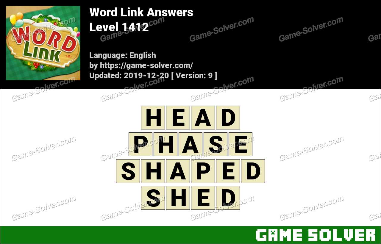 Word Link Level 1412 Answers