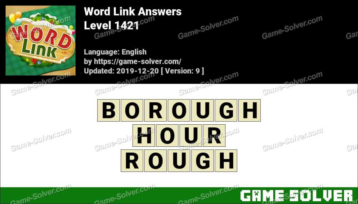 Word Link Level 1421 Answers