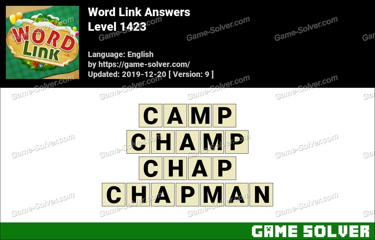 Word Link Level 1423 Answers