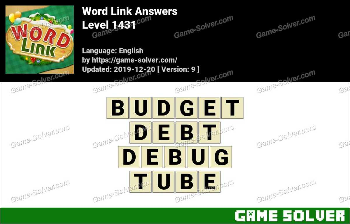 Word Link Level 1431 Answers