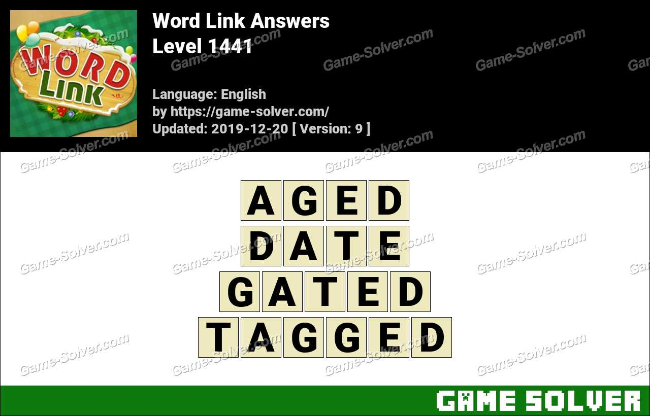Word Link Level 1441 Answers