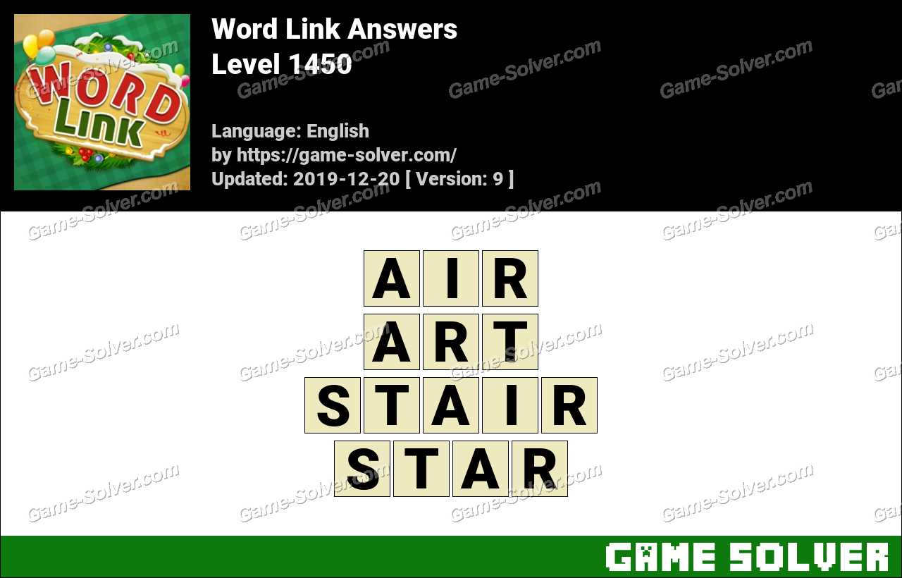 Word Link Level 1450 Answers