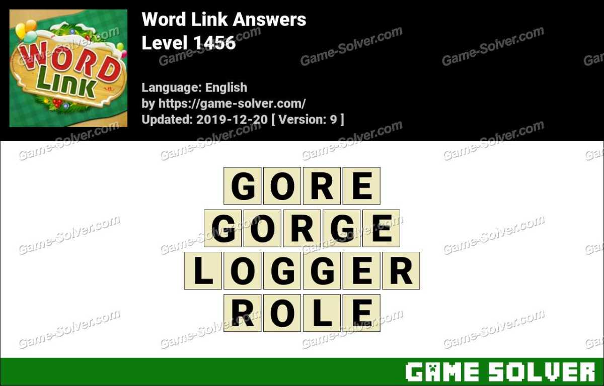 Word Link Level 1456 Answers