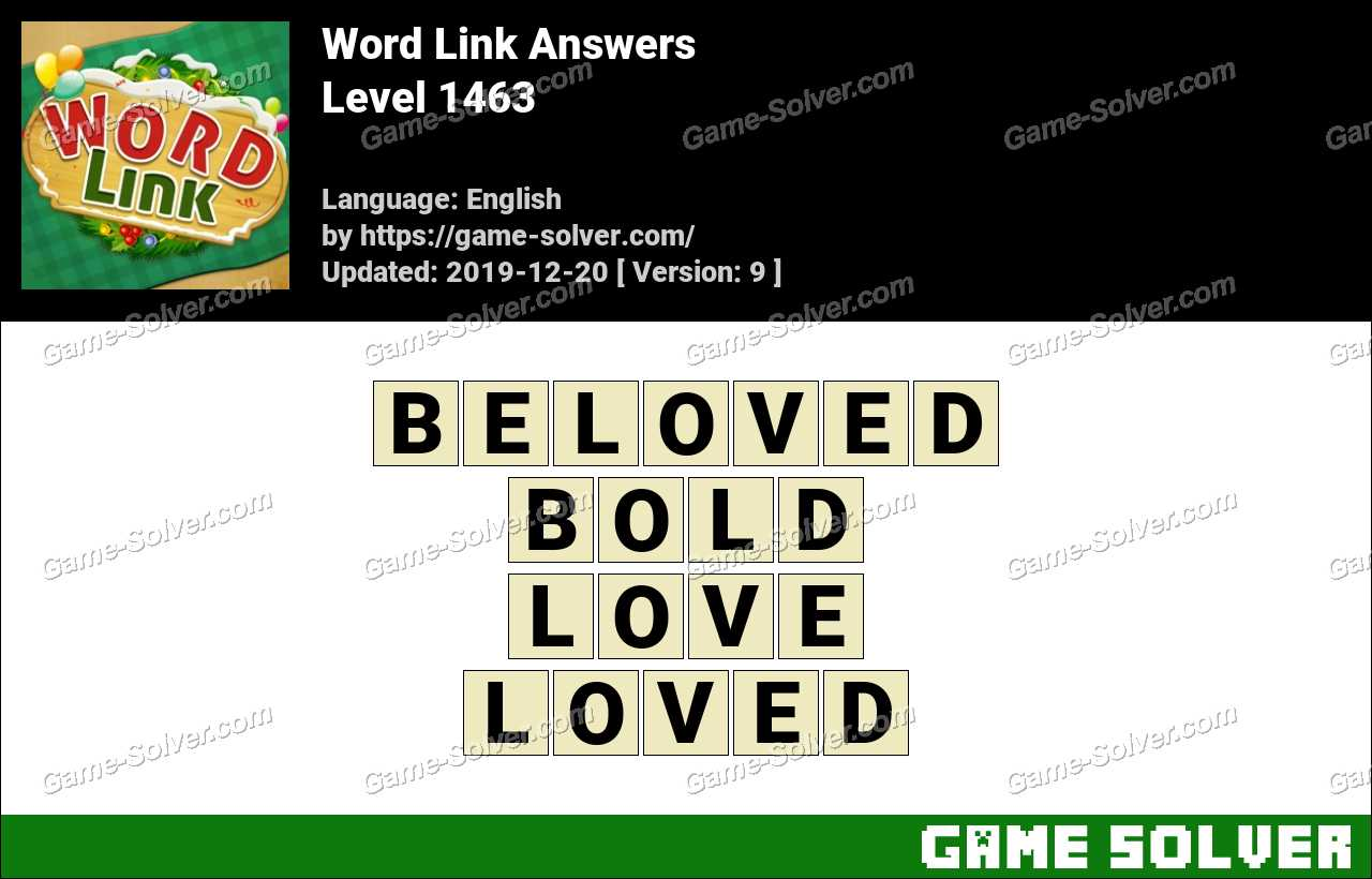 Word Link Level 1463 Answers