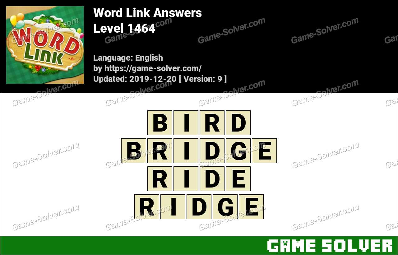 Word Link Level 1464 Answers