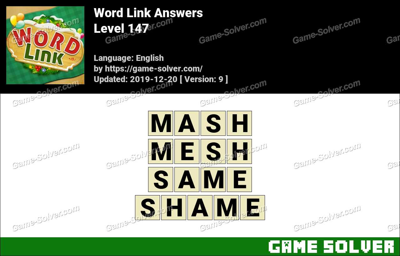 Word Link Level 147 Answers