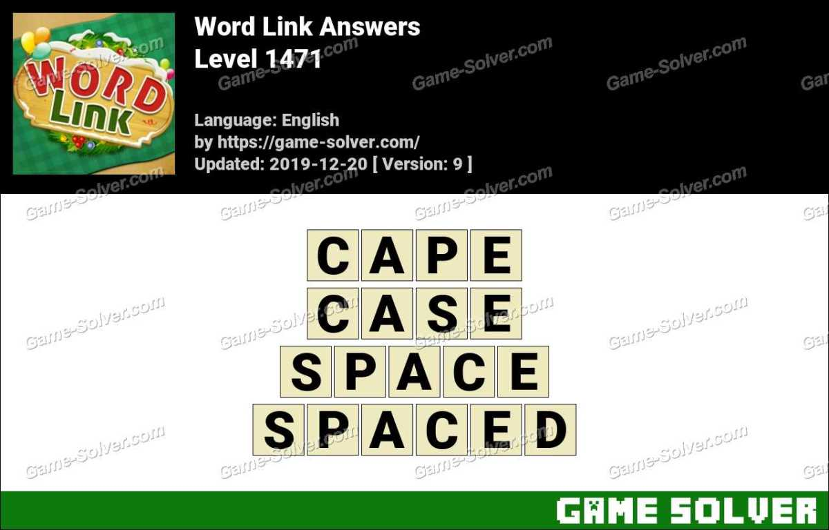 Word Link Level 1471 Answers