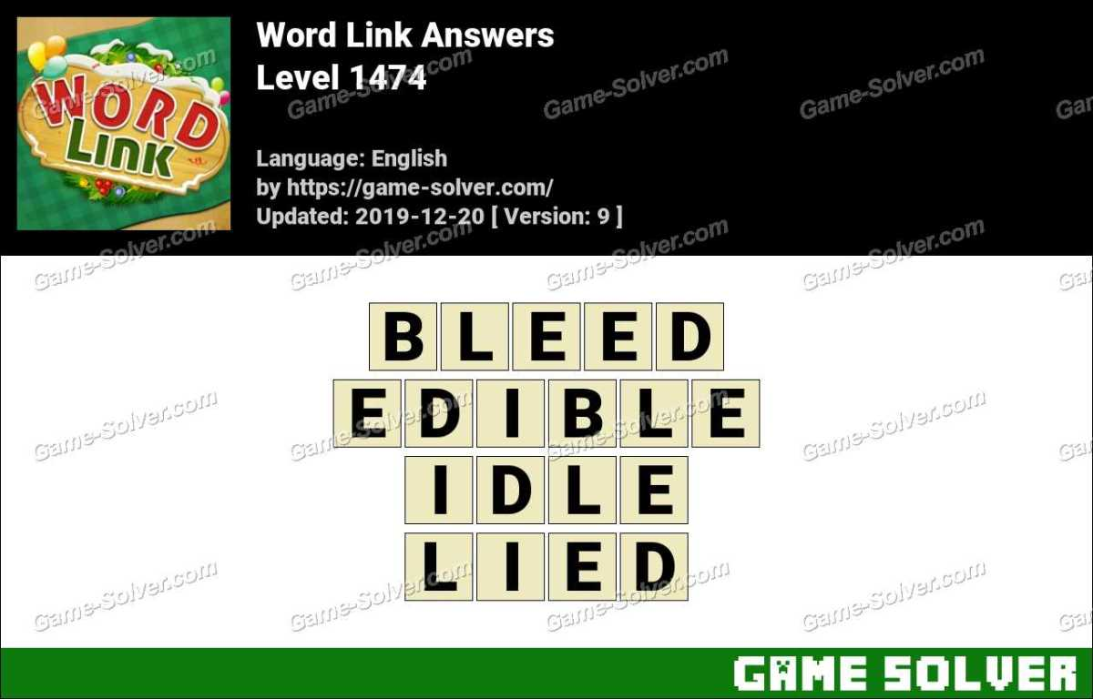 Word Link Level 1474 Answers