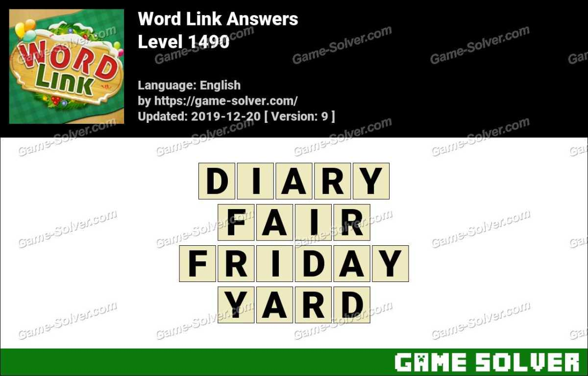 Word Link Level 1490 Answers