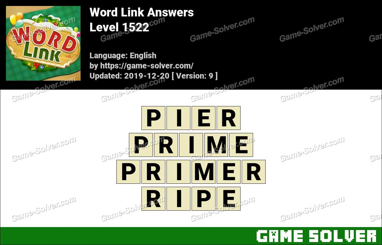 Word Link Level 1522 Answers