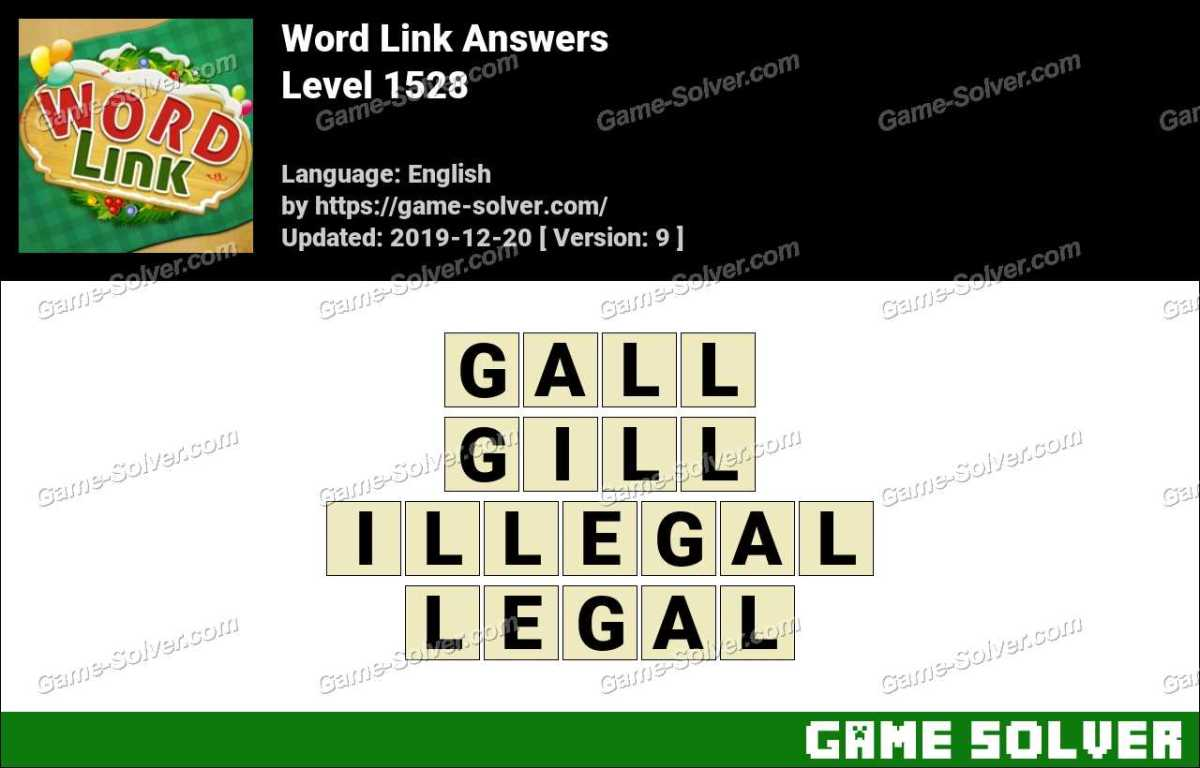 Word Link Level 1528 Answers