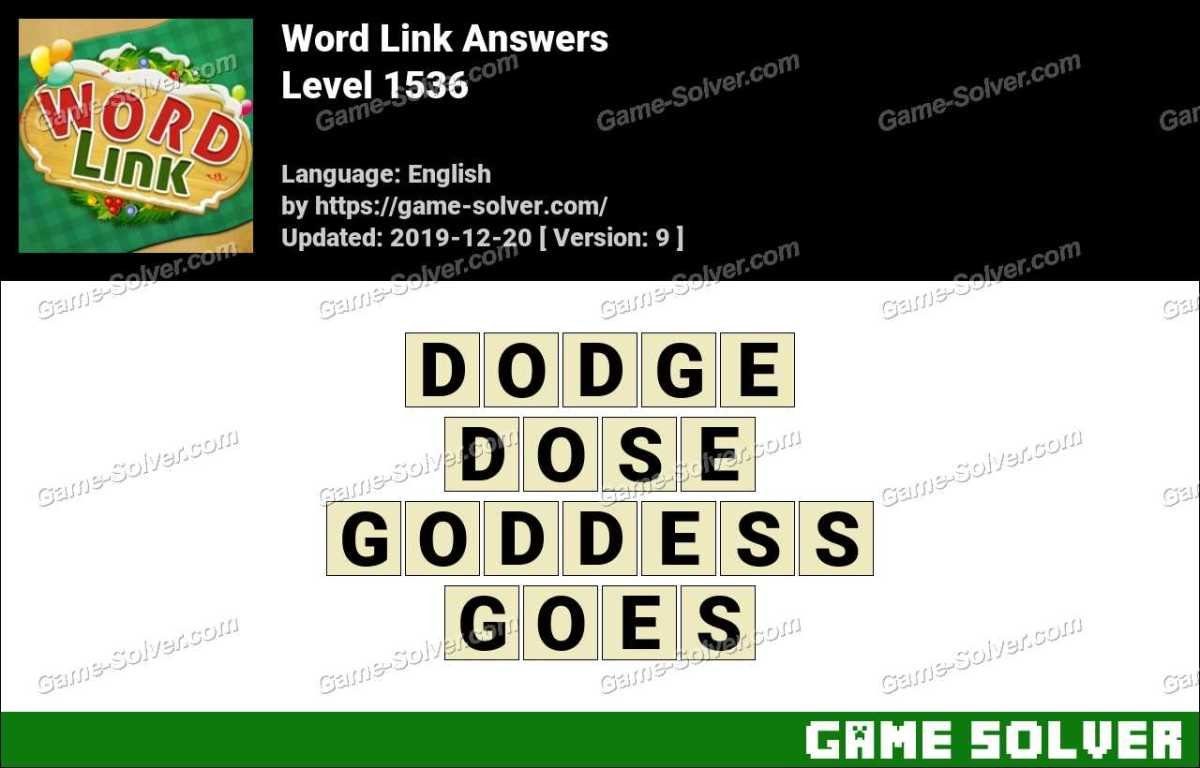Word Link Level 1536 Answers