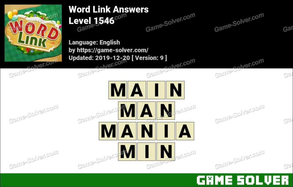 Word Link Level 1546 Answers