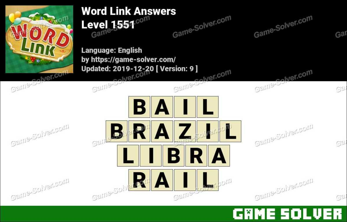 Word Link Level 1551 Answers