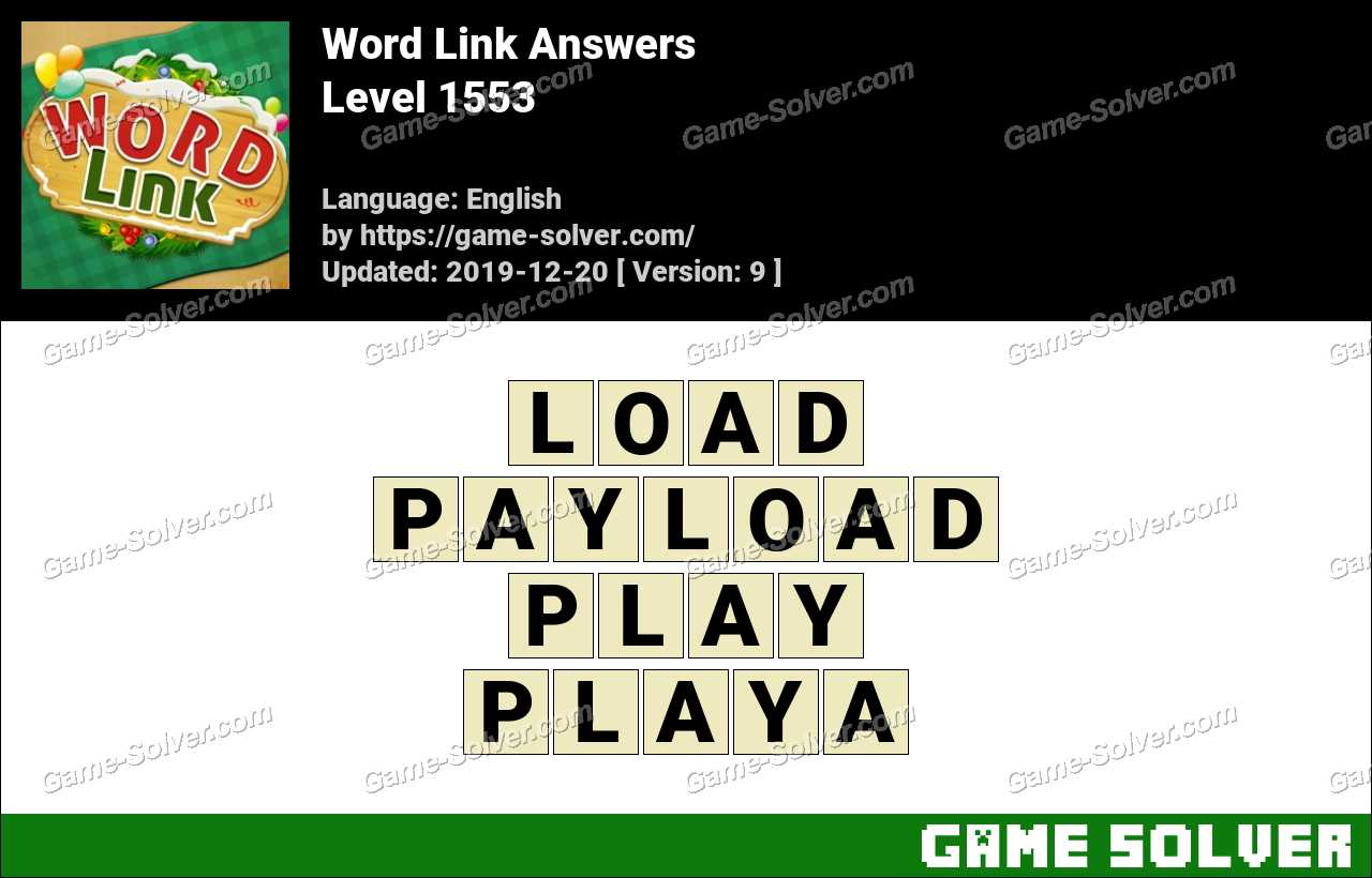Word Link Level 1553 Answers