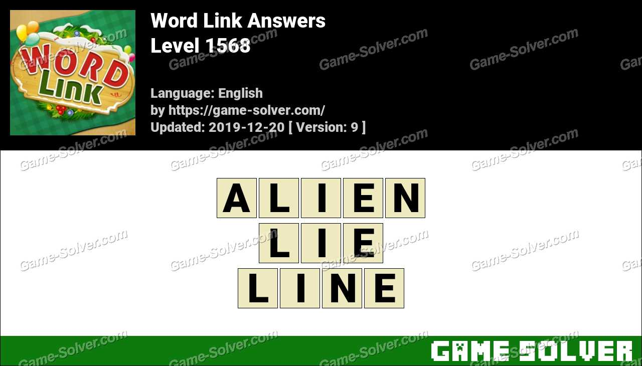 Word Link Level 1568 Answers